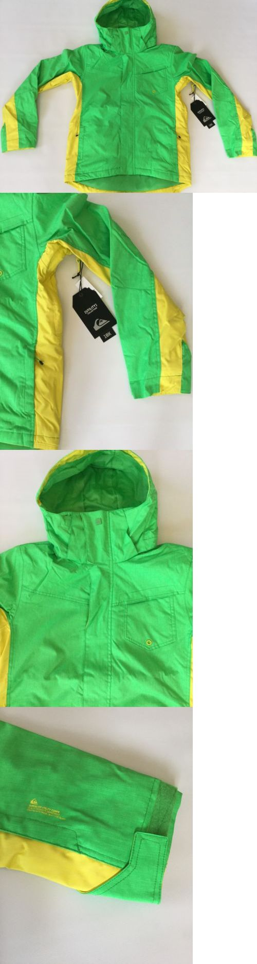 Coats and Jackets 26346: $180 Quiksilver Mens Green Snow 10K Jacket Ski Snowboard Insulation Size Xl -> BUY IT NOW ONLY: $79.99 on eBay!