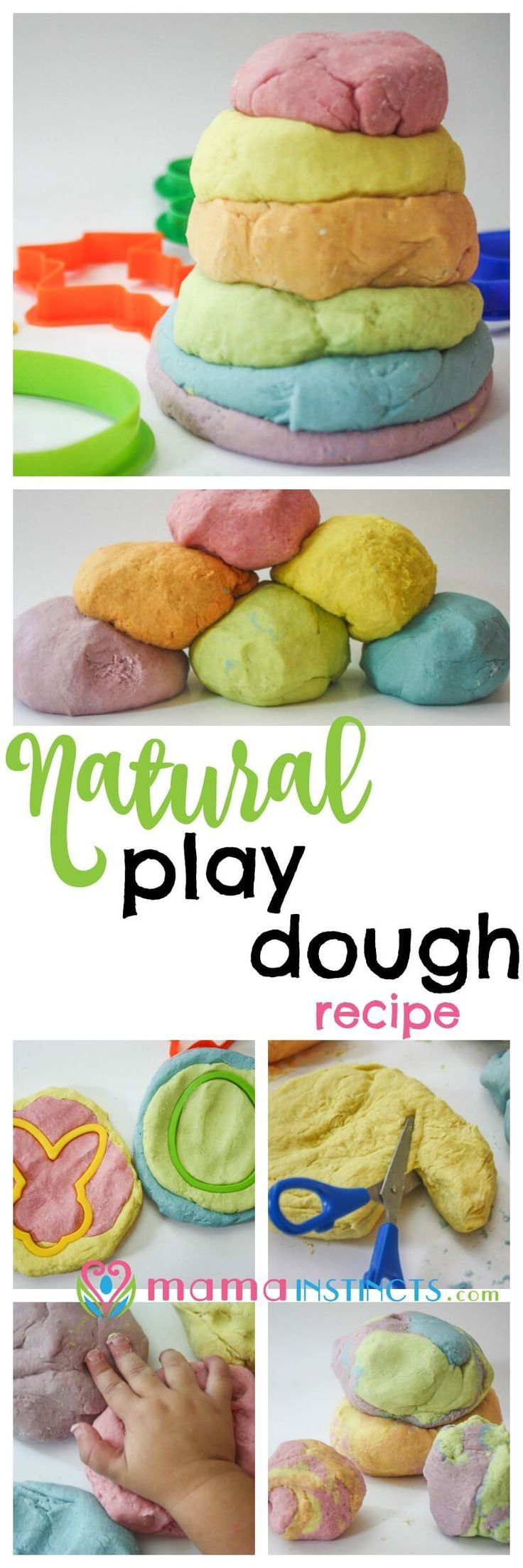 Try this recipe and stop worrying about your kid putting play dough in their mouth. It's safe, non-toxic and easy to make. The best part is that it's made with ingredients you find in any kitchen. Try this natural play dough recipe today or pin it for lat