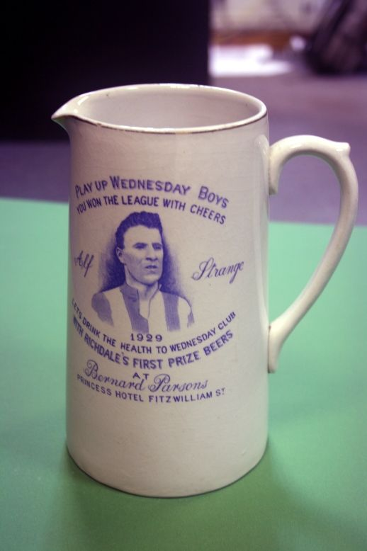 'Paly Up Wednesday Boys' Sheffield Wednesday 1929 League Winners Tankard