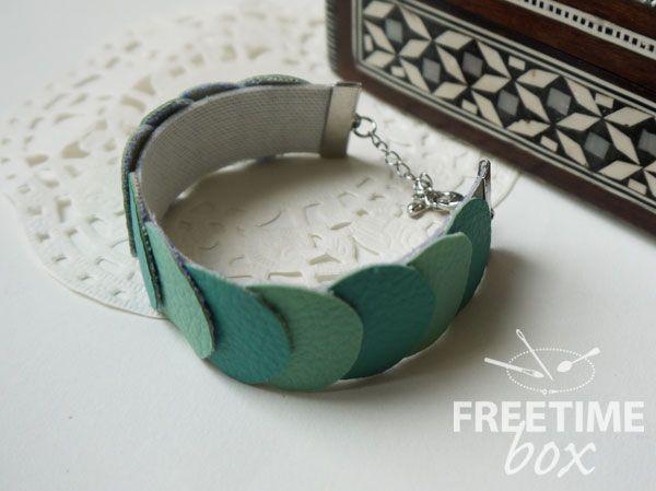 Tuto bracelet manchette en simili cuir Adeline Freetime Box