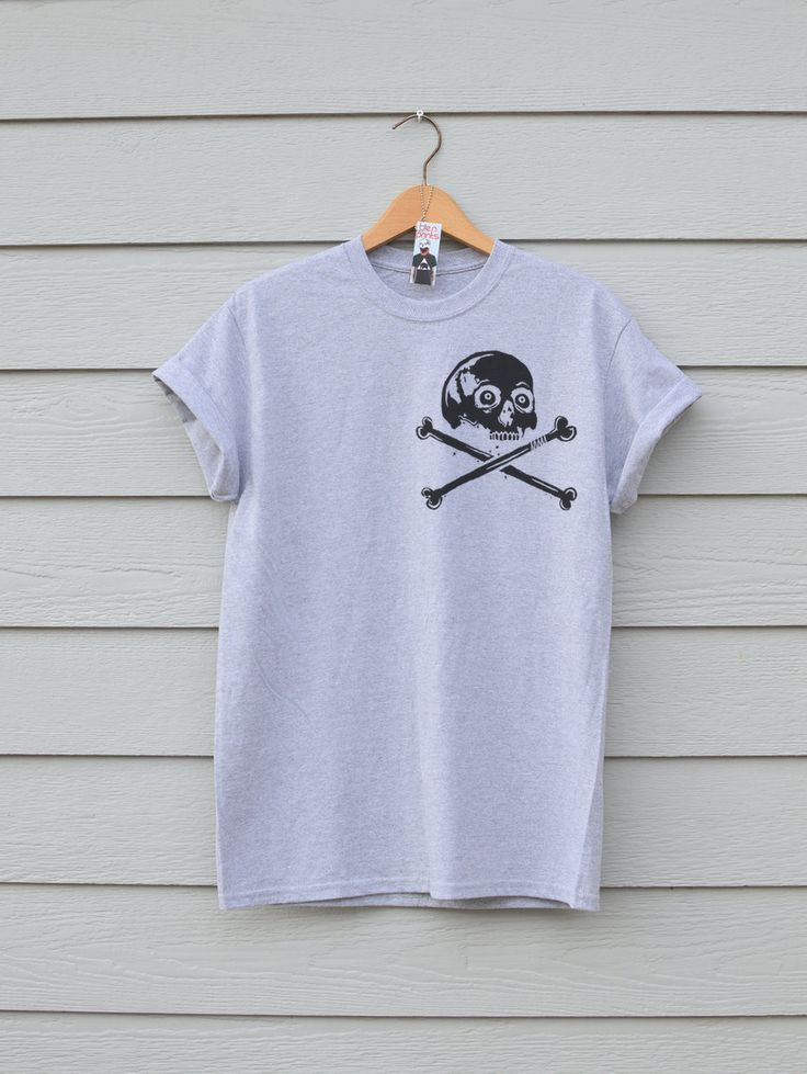 Skull and Crossbones Premium Sports Grey Tee