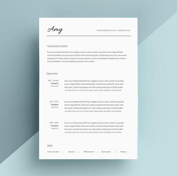 28 best Resume \/ CV Design images on Pinterest Cover letter - resume design templates