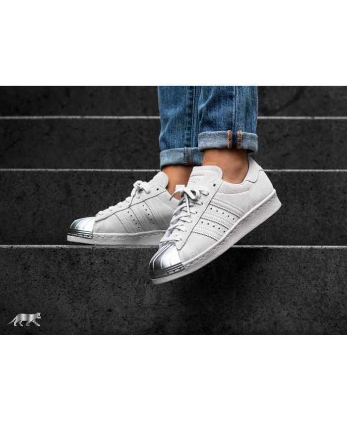 f7ecb9f62fb Adidas Australia Superstar 80S Metal Toe W Grey One Trainers ...