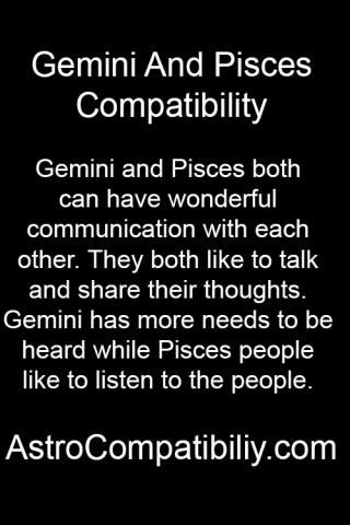 pisces male and gemini female relationship