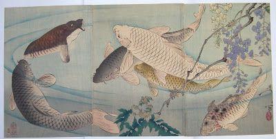 """Art-Monie: Estampes japonaises """" les carpes koÏ"""