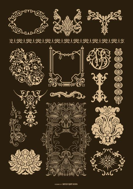 Baroque Ornamental set                                                                                                                                                                                 More