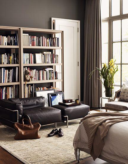 Neutral colors make me drool.: Derek Lamb, Wall Colour, Living Rooms, Wall Color, Fashion Design, Grey Wall, I Derekla, Paintings Color, Dark Wall