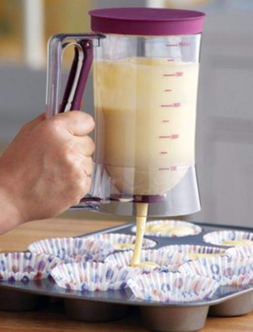 Cake Batter Dispenser with Measuring Label I seriously need this in my life.