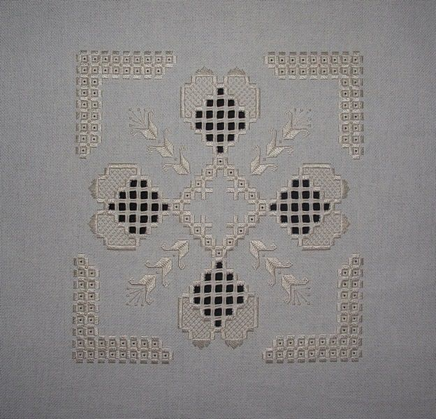 Stitchin' and Life in a Small Town: My Latest Hardanger Finish