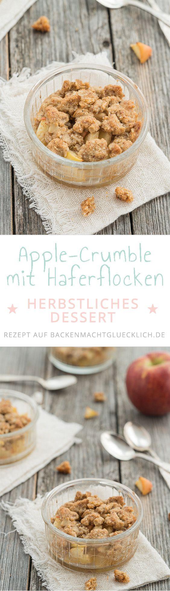 Mit diesem einfachen Apple-Crumble Rezept zaubert ihr im Nu ein tolles herbstliches Dessert. Apfel-Crumble ist fruchtig, knusprig und einfach super lecker.