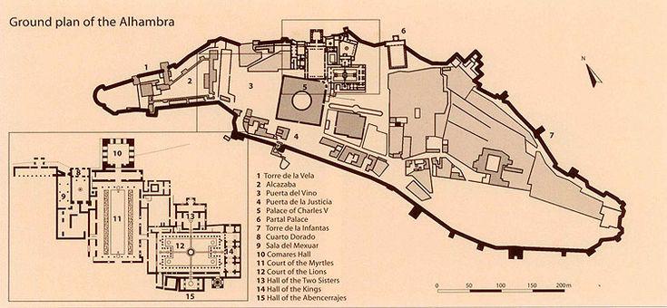 the alhambra garden site plan - Google Search | Gardens