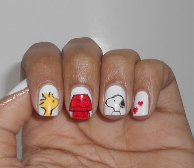 Snoopy and Woodstock Nails