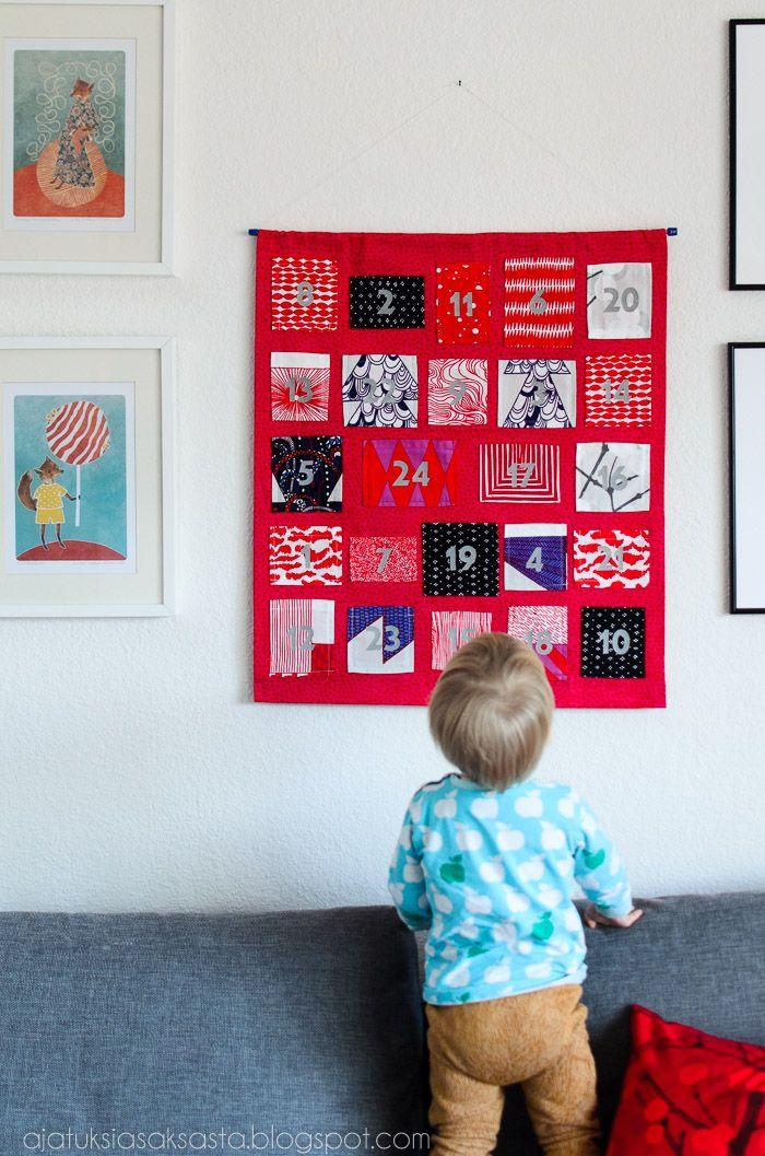 Ajatuksia Saksasta: Christmas calendar out of lovely Marimekko fabrics