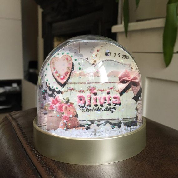 Snow globe, Christening keepsake, baptism gift, Personalised snow globe, custom gift, new baby, christening, gift for godchild, keepsake