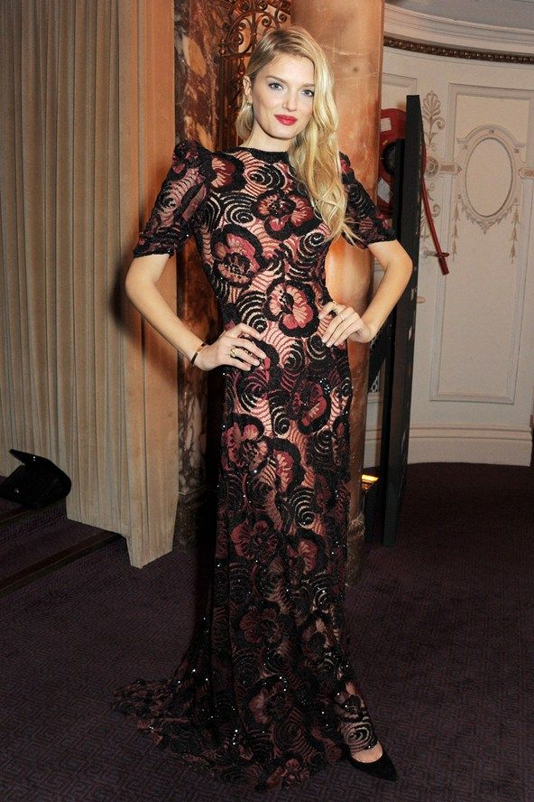 lily donaldson  at the 2013 british fashion awards in marc jacobs