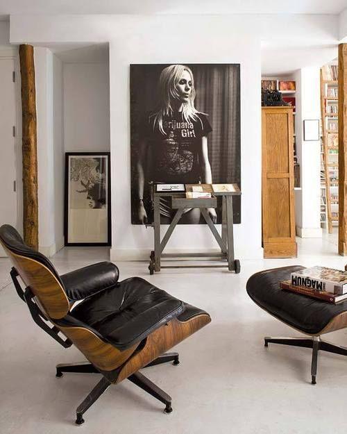 Eames Lounge Chair Schwarz.