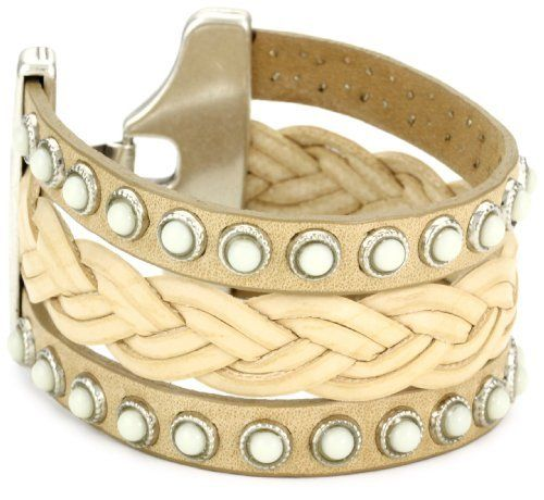 "Streets Ahead Triple Straps with White Stud Detail with Natural Woven Leather Cuff Bracelet Streets Ahead. $61.51. 1 1/2"" cuff made with Italian leather and Italian hardware. Handmade items may vary in stone or stud placement spacing.  Leather color  may have slight variation due to manufacturing process. Made in USA"