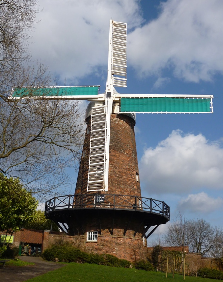 Green's Mill, Sneinton, Nottinghamshire.  A restored working windmill close to the city centre of Nottingham