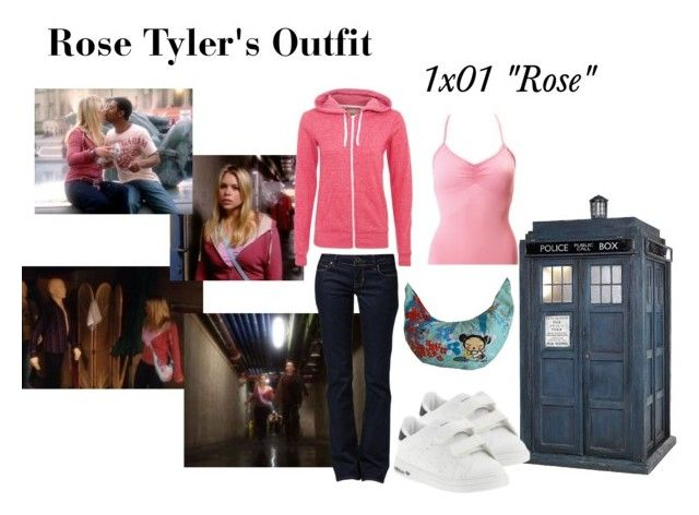 """Rose Tyler's Outfit from ""Rose"""" by erulisse17 ❤ liked on Polyvore featuring Sansha, GUESS, adidas, season one, rose, rose tyler, costume, outfit, cosplay and 1x01"
