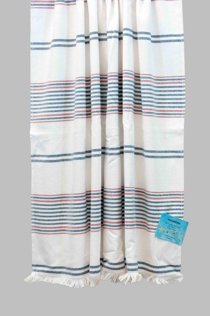 Navy Red Trinidad Turkish Towel Turkish Towels Towel Red