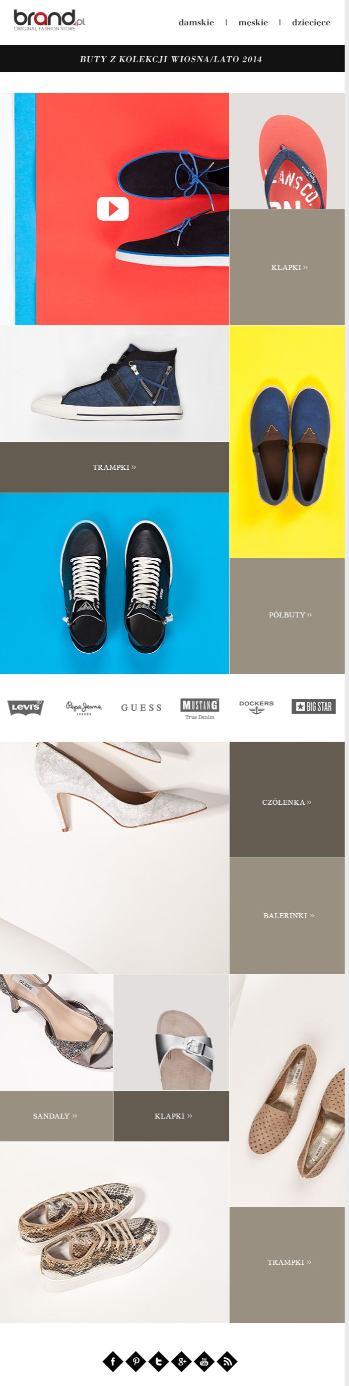 Brand.pl shoes newsletter, email design www.datemailman.com