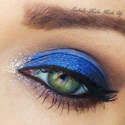 Cobalt with a Hint of Gold by Izabella M. Click the pic to see the products she used. #eyemakeup #YouCanDoThisBeauty