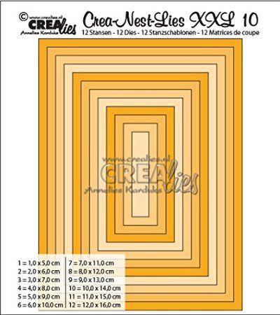 Crealies Crea-nest-Lies XXL no. 10 Stanzschablone Rechteck basis: Amazon.de: Küche & Haushalt
