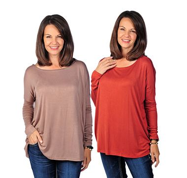 Orange Fashions 2-Pack Long Sleeve Relaxed Fit Tee.  These are available at Tranquility in a variety of colours.