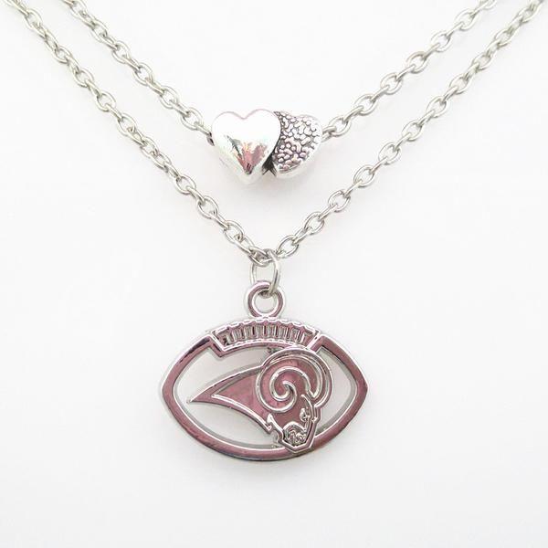 Length: 45cm (+5cm expandable chain) Pendant Shape: Team Logo and Hearts