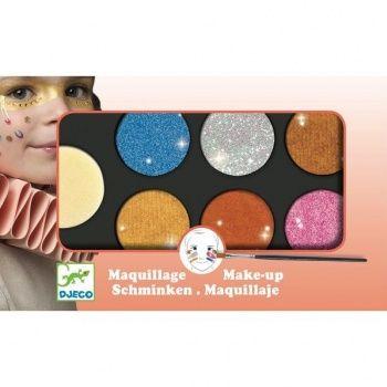 Farby do malowania twarzy Djeco - Metallic