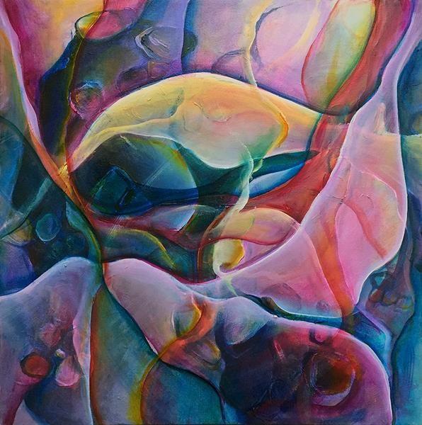 "Monika Wright Acrylic 12"" X 12"" nova scotia artist canadian art halifax art gallery ns arts and craft nova scotia art galleries original painting abstract"