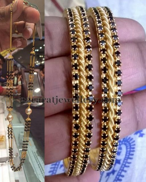 Jewellery Designs: 8 Grams Black Beads Set
