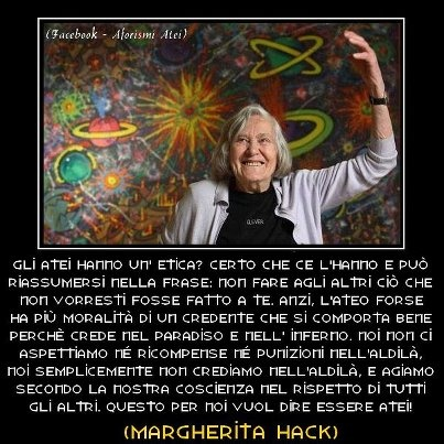 l'ateismo secondo Margherita Hack