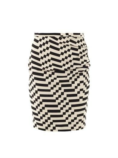 Tantalo optical-print skirt | Weekend Max Mara | MATCHESFASHIO...