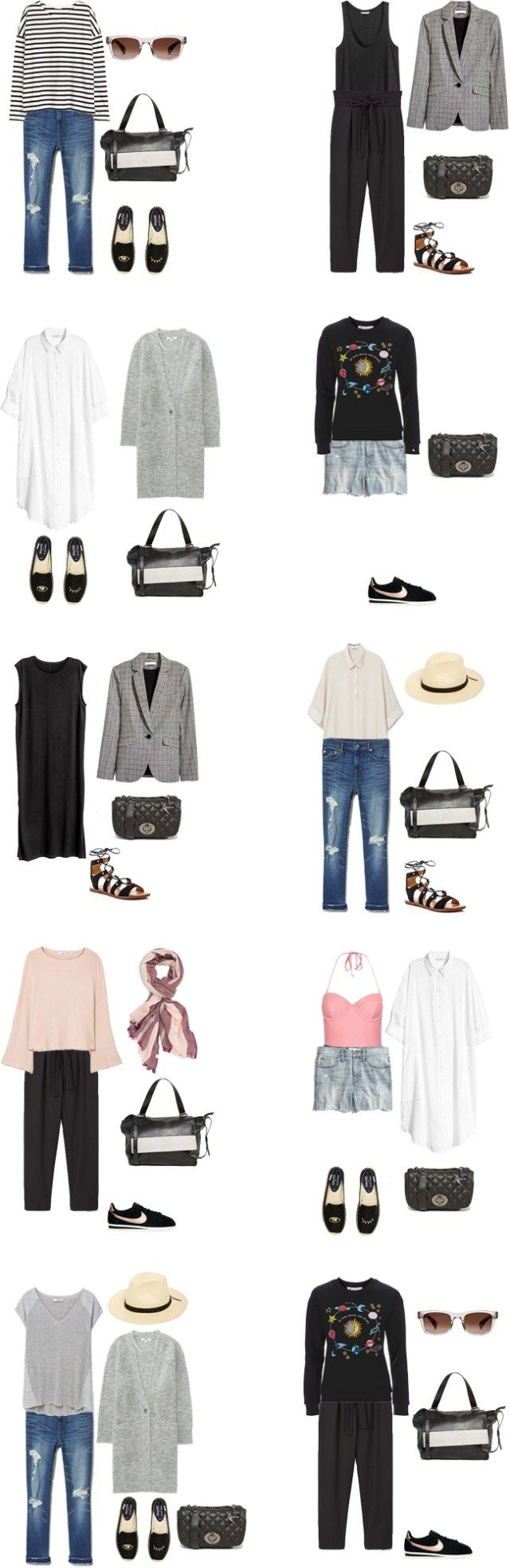 Packing List: 2 weeks in Lisbon, Portugal in Spring 2017. Outfit Options 2 - livelovesara
