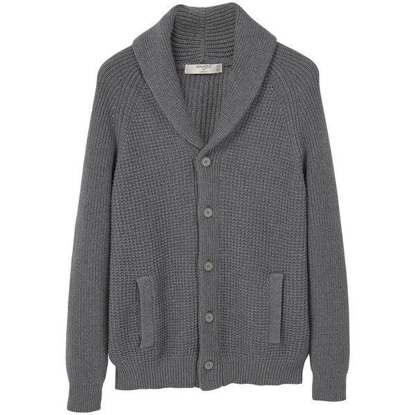 MANGO MAN Shawl Collar Cotton Cardigan (2,455 THB) ❤ liked on Polyvore featuring men's fashion, men's clothing, men's sweaters, mens cotton sweaters, mens shawl collar sweater, mens cardigan sweater, mens cotton cardigan sweaters and mens shawl collar cardigan sweater