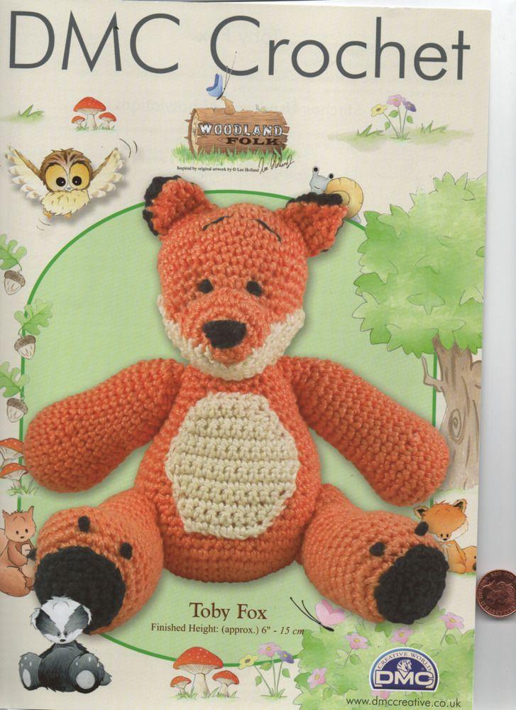 Dmc Delightful Crochet Fox Soft Toy Crochet Pattern Crochet