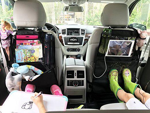 Termichy (1 pezzo) Léa2, Borsa per schienale per auto, protezione antiscivolo con portaoggetti per sedile posteriore & # xFF0 C; Sedile posteriore schoner, protezione per Kick tappetini per il seggiolino da auto con Extra ampio scomparto iPad supporto per Tablet, Custodia trasparente, che dà per grazie al suo materiale impermeabile completo: Amazon.it: Auto e Moto