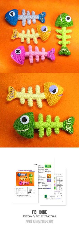 Amigurumi Fish Bone Free Pattern : 79 best images about Haken on Pinterest Free pattern ...
