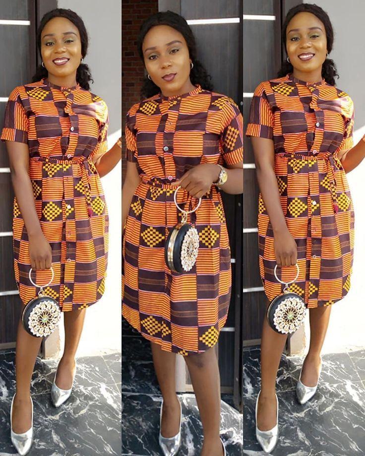 f869a955ce7 2018 Ankara Short Gown Styles
