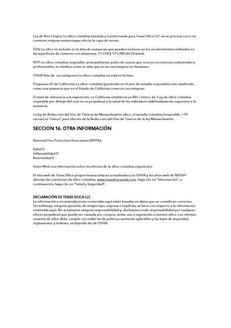 Arena sílica Fredonia (MR)