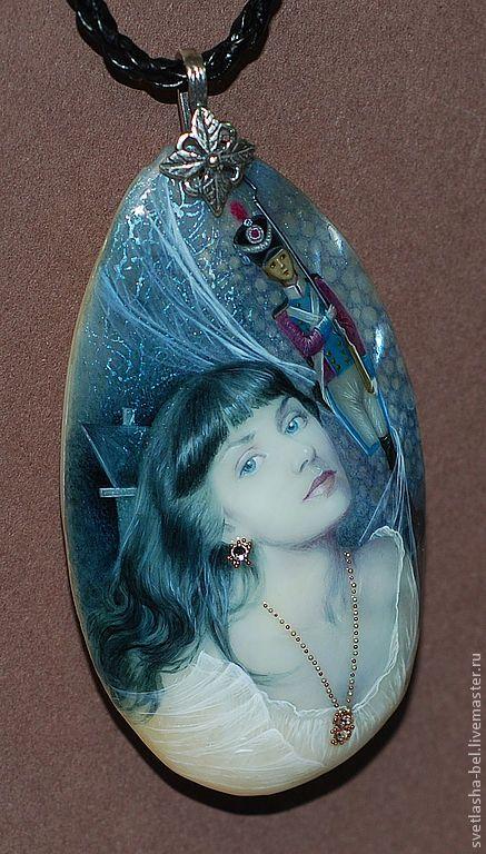 Купить Я и мой Стойкий Оловянный Солдатик - серый, лаковая миниатюра, портрет на заказ