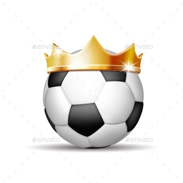 Soccer Ball In Golden Royal Crown Soccer Ball Crown Royal Soccer