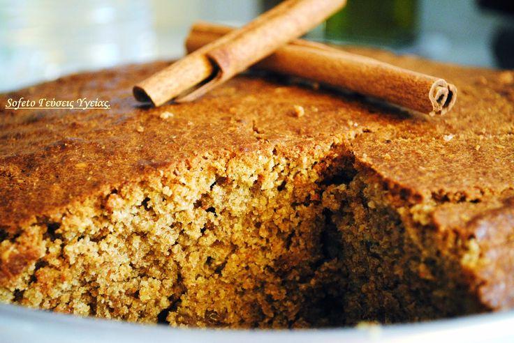 Κέικ ολικής αλέσεως με κανέλα και σταφίδες (χωρίς ζάχαρη). Συνταγές για διαβητικούς Sofeto Γεύσεις Υγείας.