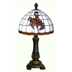 University of Wyoming Cowboys Tiffany Style Stained Glass Table Lamp