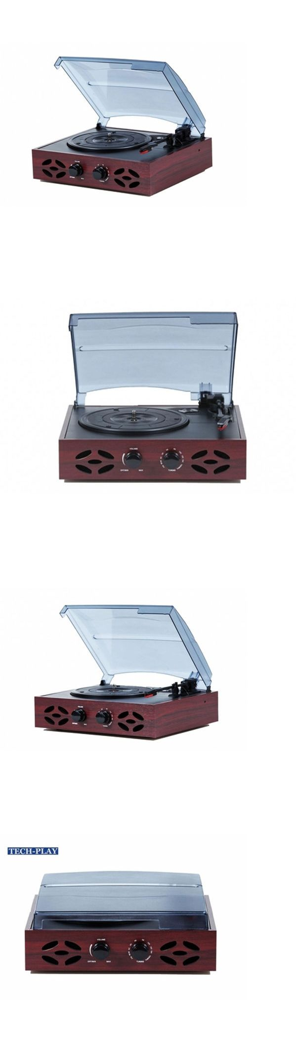 Record Players Home Turntables: Techplay Odc15 Retro Classic 3-Speed Wooden Record Player Turntable Fm Radio New BUY IT NOW ONLY: $47.99