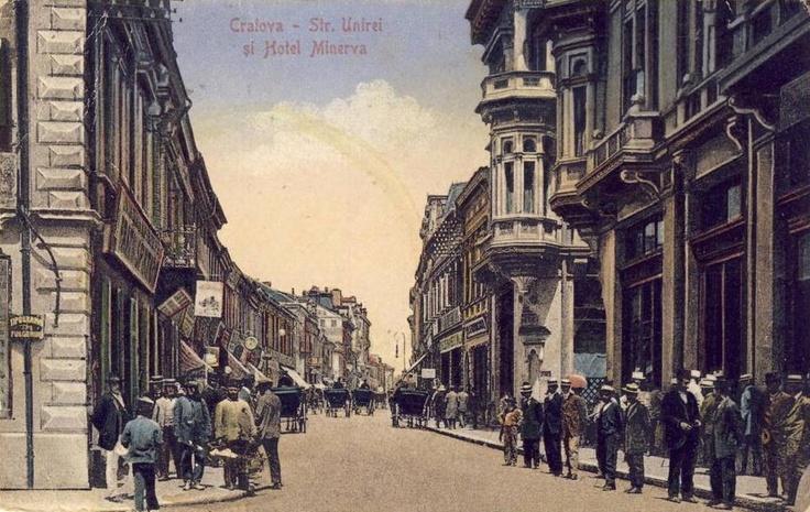 Craiova , Strada Unirii si Hotel Minerva anii '20