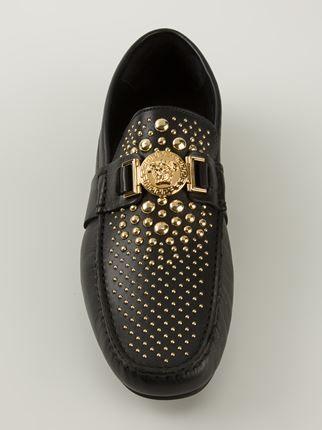 Versace Studded Car Shoes - Zoo Fashions - Farfetch.com