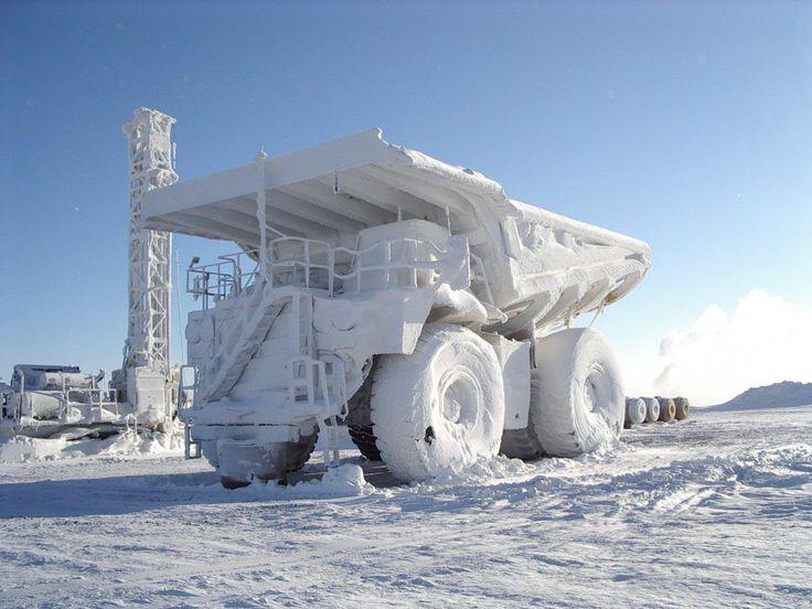Un camion gelé
