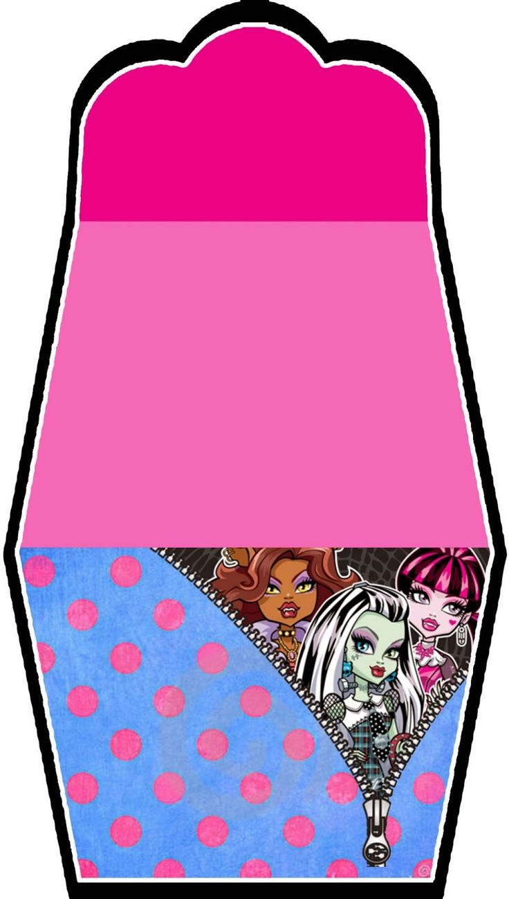 Monster High: Free Printable Purse Invitations.